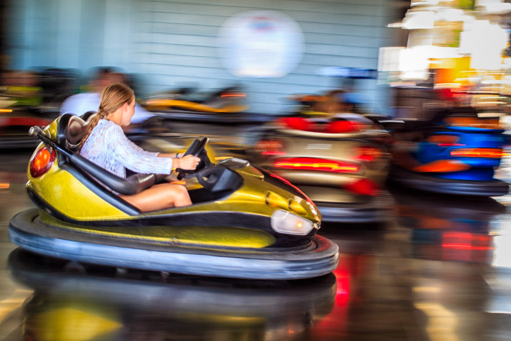 Bumper Cars on the Boardwalk